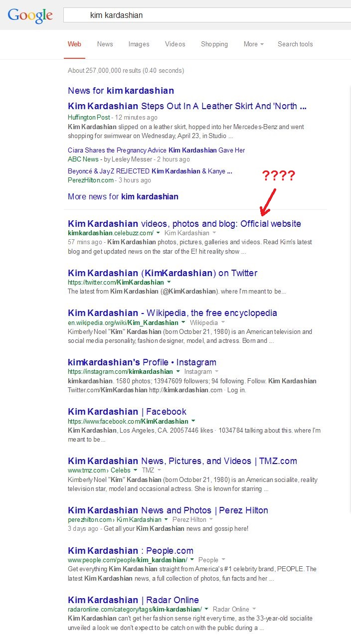 kim kardashian google search traffic