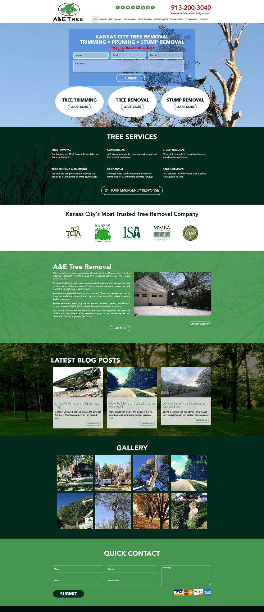 tree service contractor web design