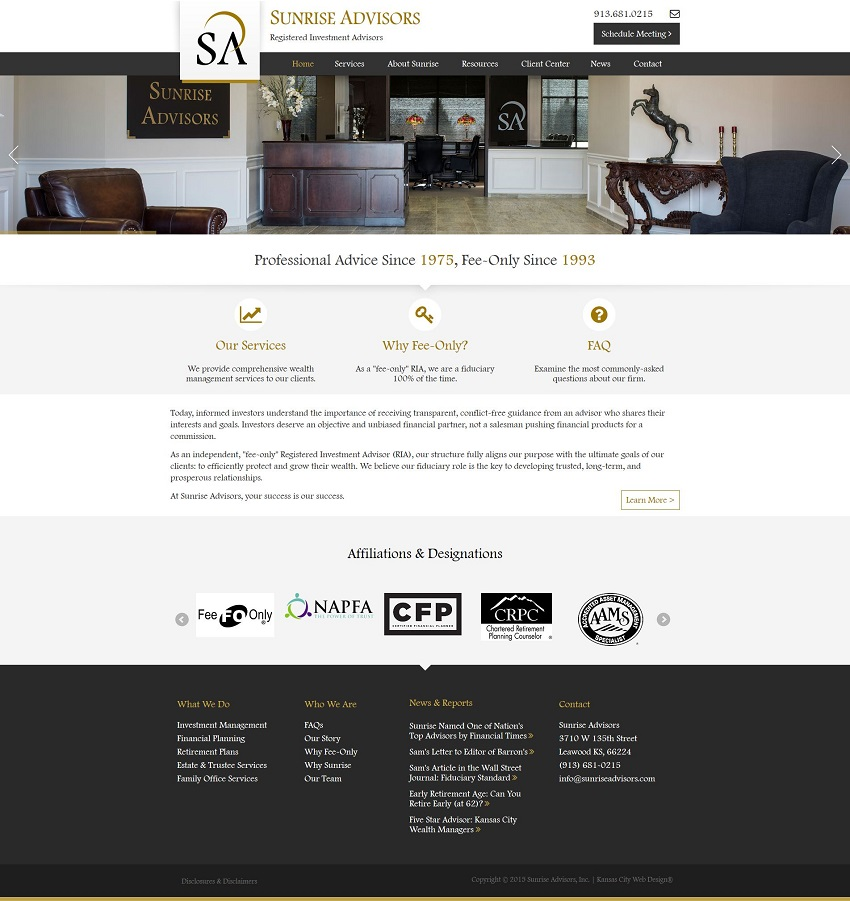 financial services web design