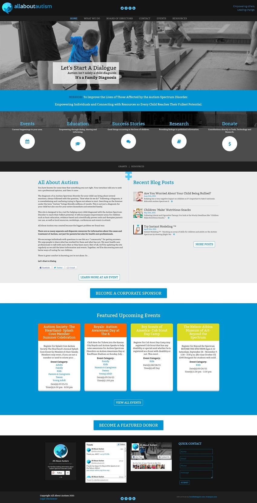 non profit web design