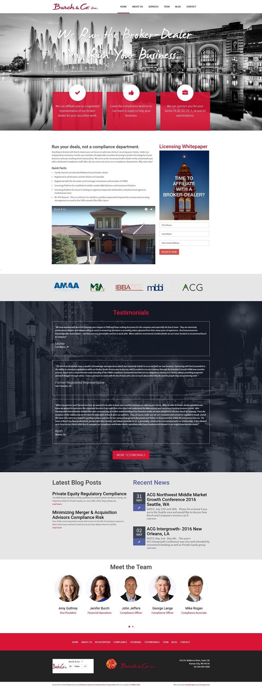 investment advisor web design