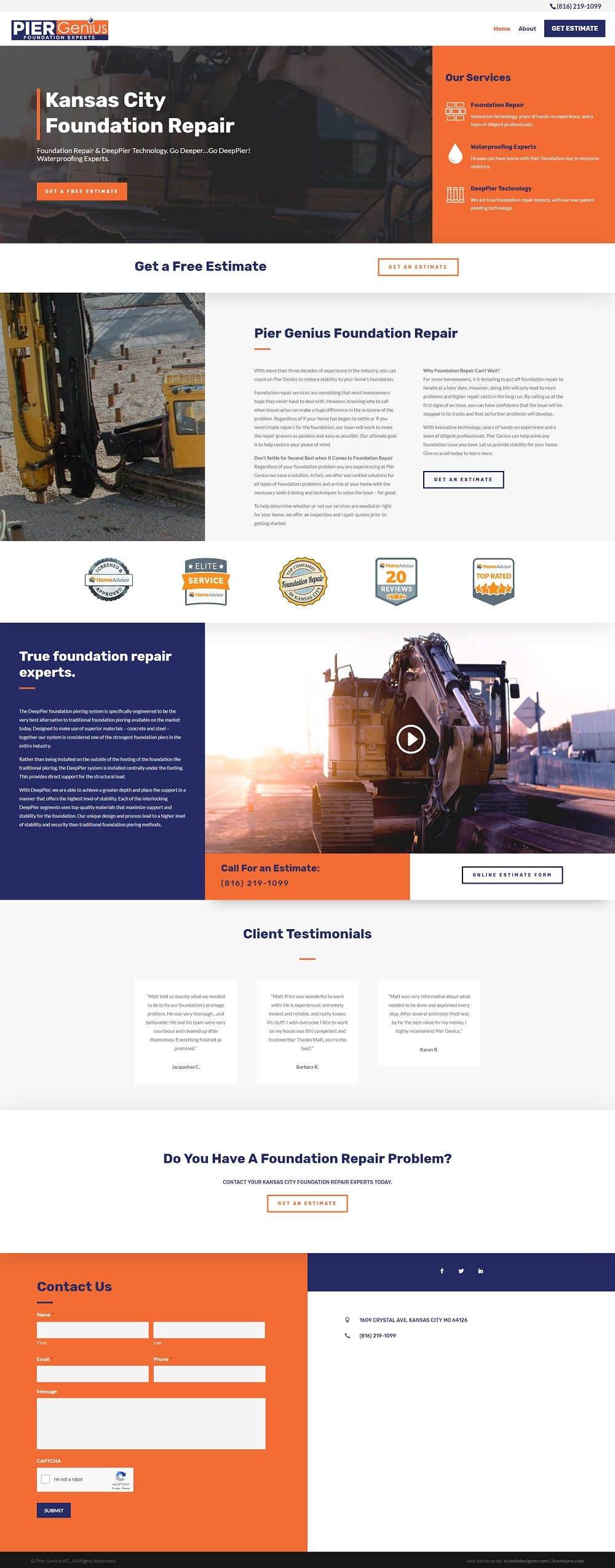 foundation repair company web design