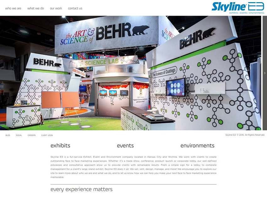 trade show company web design