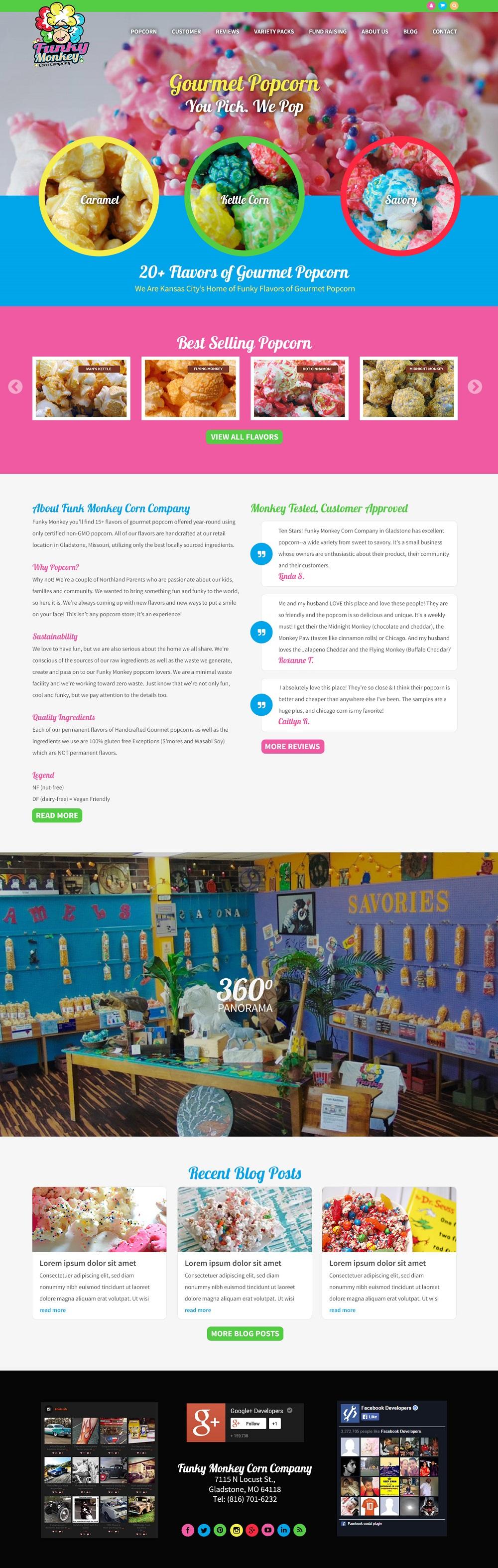 popcorn company website design