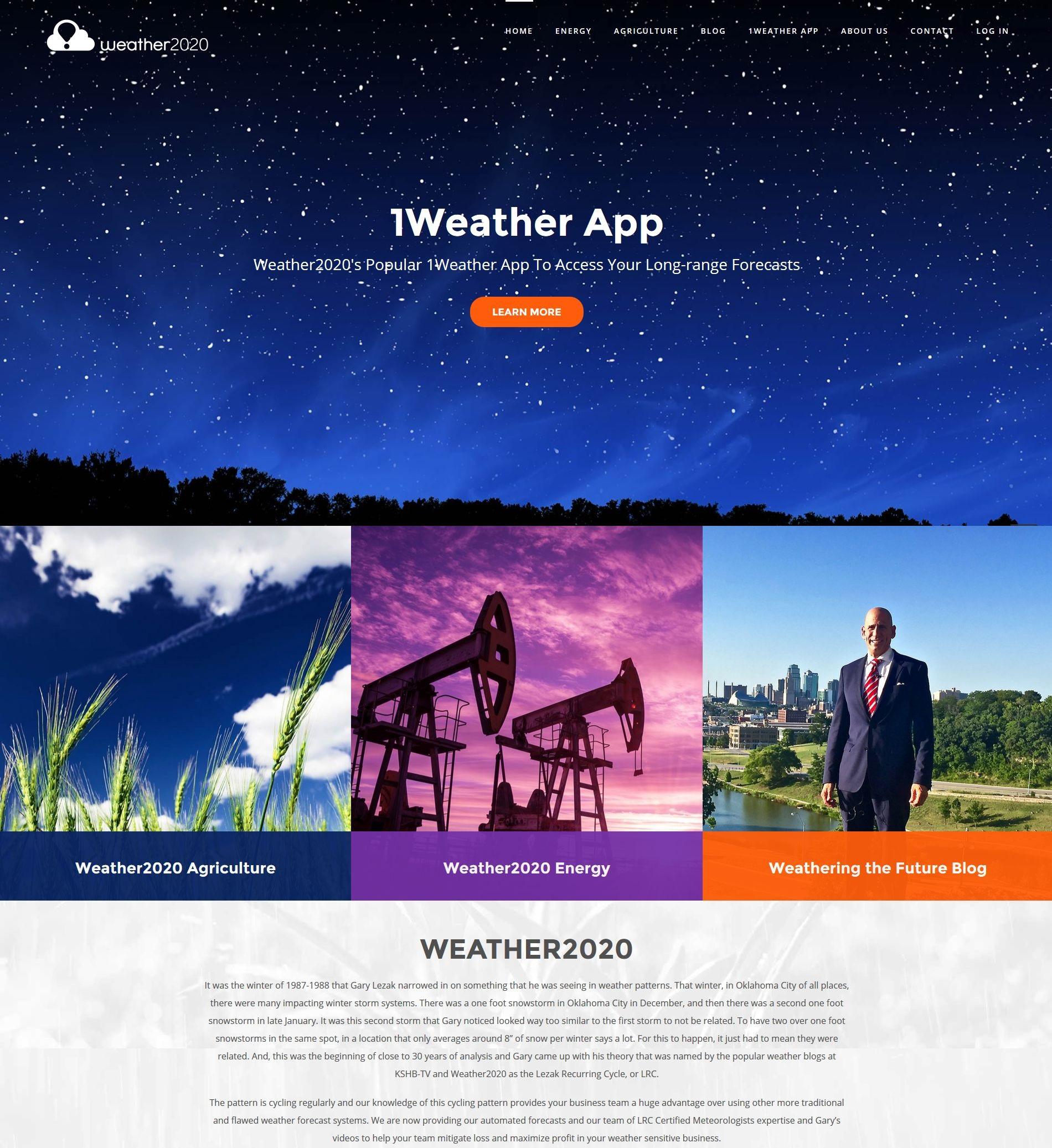 meteorologist web design