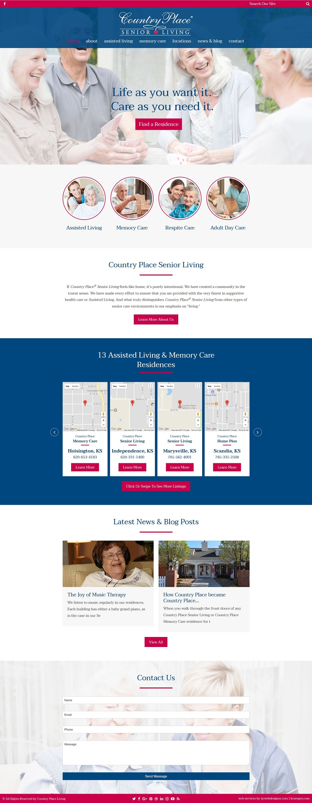 nursing home web design
