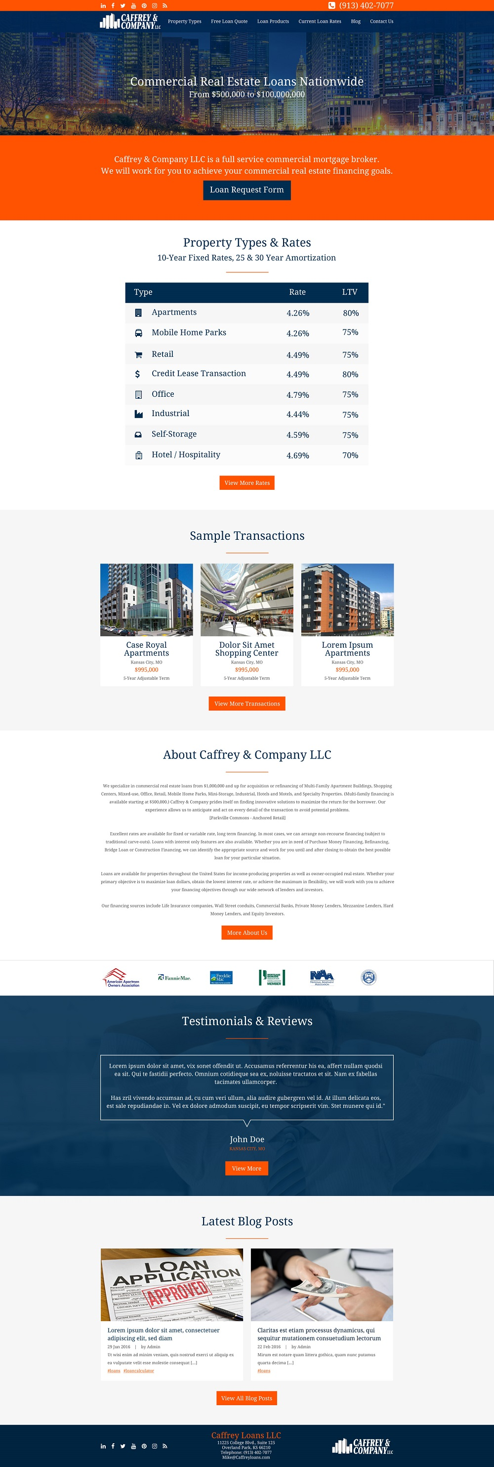 commercial loan company web design