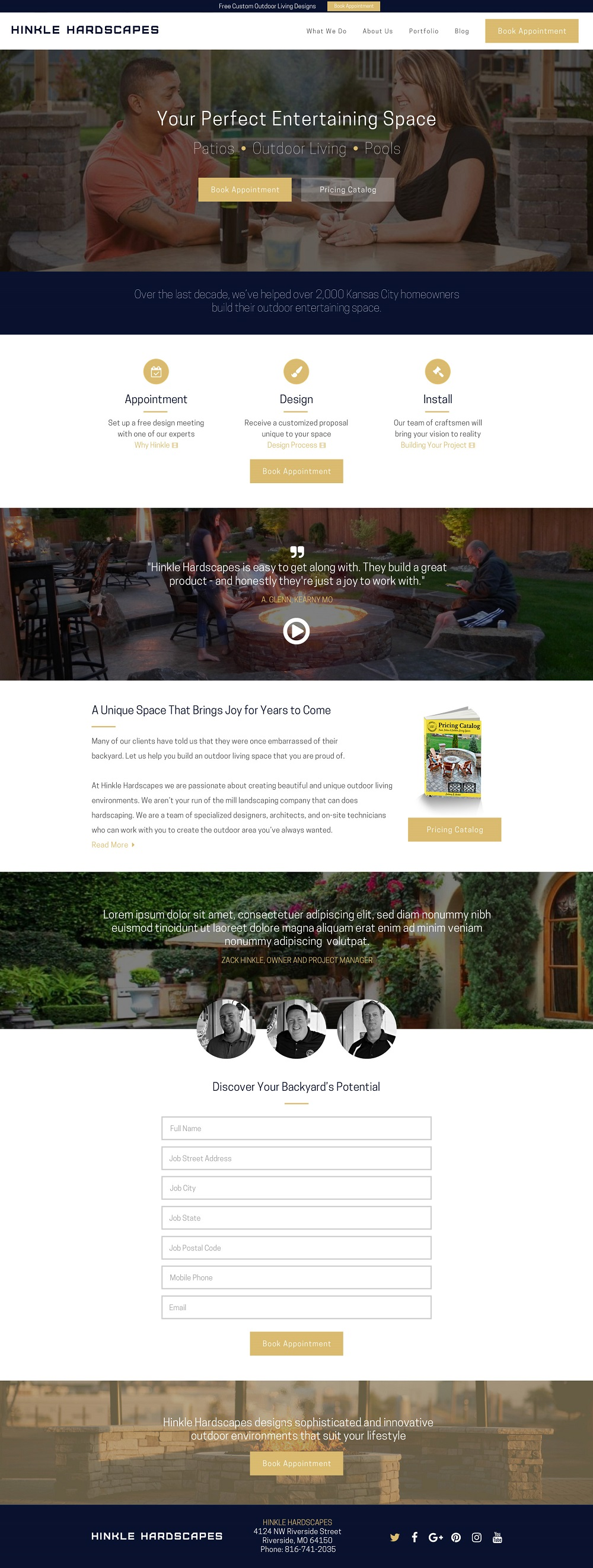 hardscaping website design
