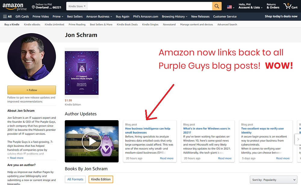 jon schram amazon author page